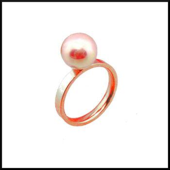Stål ring roséguld