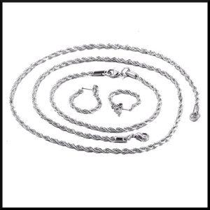 Halsband, armband och örhänge