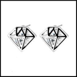 stål örhängen diamant