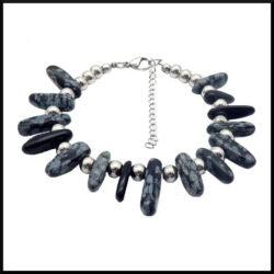 Sten och stål armband