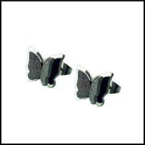 stål örhänge fjäril