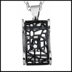 stål halsband rektangel