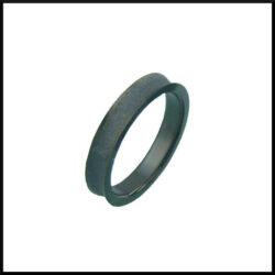 stål ring svart