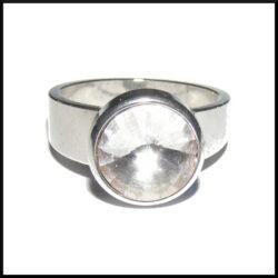 Stål ring med kristall