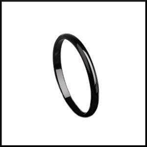 Smal svart stål ring