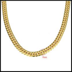 Halsband i guldpläterad stål