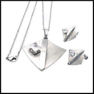 stål smycken set