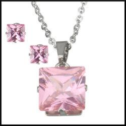kristall stål halsband