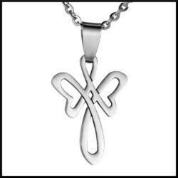 Stål halsband ängel