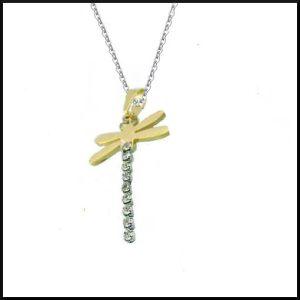 Halsband i silver och guldfärgat stål.