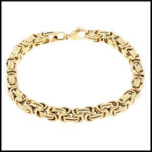 Stål armband guld