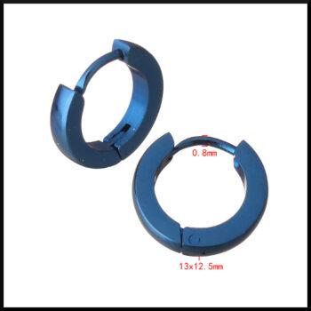 blå stål creol örhängen