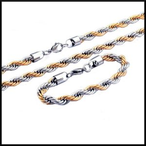 Halsband och armband i stål