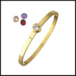 Stål armband guld pläterat