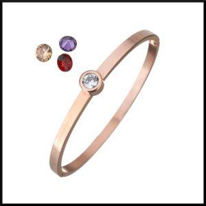 stål armband roséguld