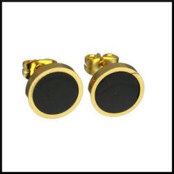 guld pläterade stålörhängen