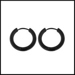 svarta creol örhängen