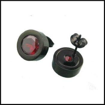svarta stål örhängen