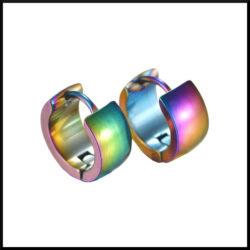 creol regnbågsfärgade stål örhängen