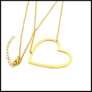 Stål halsband hjärta