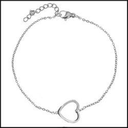 stål armband hjärta