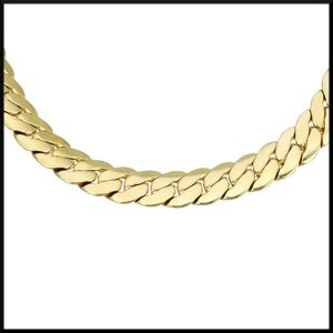 Pansarlänk armband i guldpläterad stål.