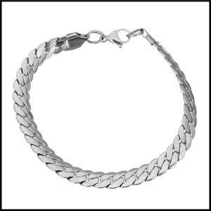 Armband stål pansarlänk