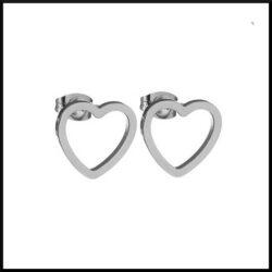 stål örhängen hjärta