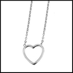 Halsband Sophia Hjärta i stål