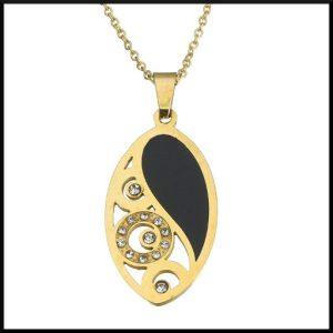 Halsband i guld pläterat stål