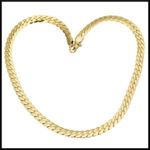 Pansarlänk guld pläterat stål