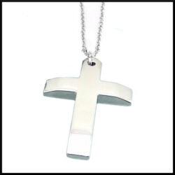 Halsband med stål kors