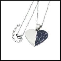 Halsband hjärta i stål