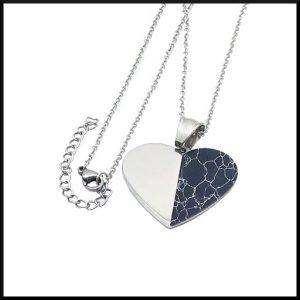 Halsband Heart i stål