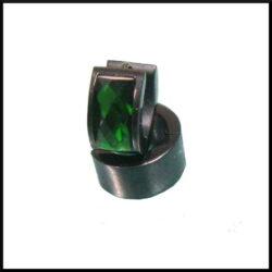 Creol örhängen i svart stål