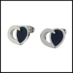 hjärta örhängen i stål