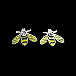 örhängen med bi i stål