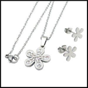 halsband med blomma