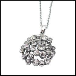halsband i stål med strass stenar