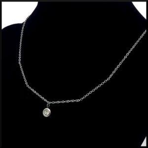 Halsband med kristall i stål