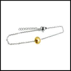 Armband guldprick i stål