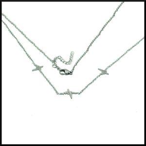 Halsband Hjärtrytm x 3 i stål