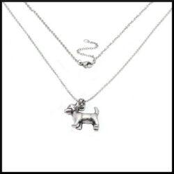 Halsband Ludde med hund i stål