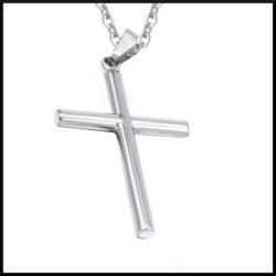 Halsband Christin kors i stål