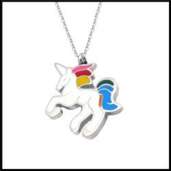 Halsband Unicorn i stål