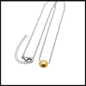 Halsband Guldprick i stål
