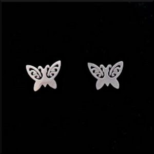 Örhängen Butterfly i stål