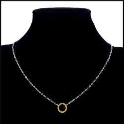 Halsband guldring i stål