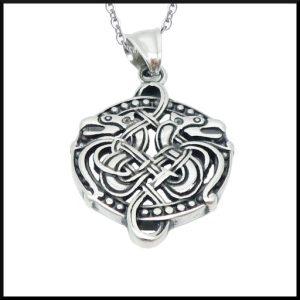 Halsband Keltisk Drake i stål