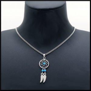 Halsband med drömfångare i stål